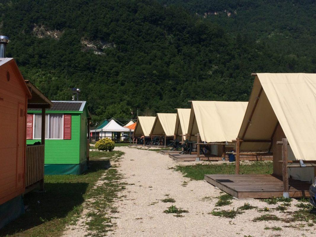 Campen in Arsie Italien