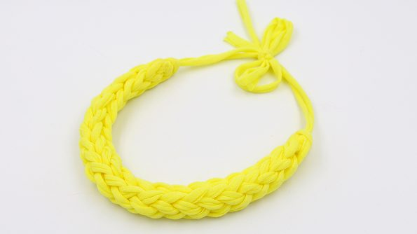 statement kette textilgarn selber machen gelb