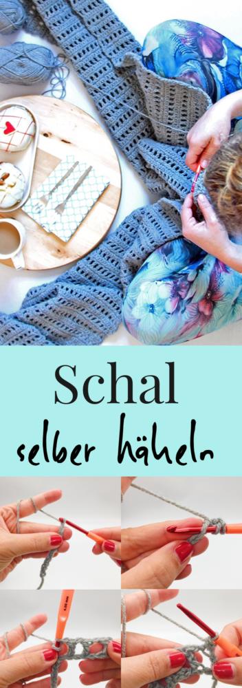 Häkelanleitung für einen Schal auch für Anfänger
