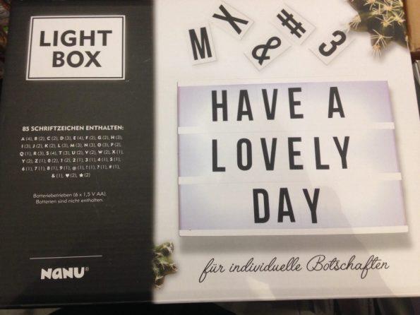 Lightbox Deko günstig