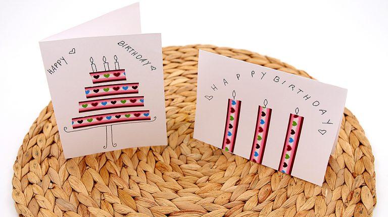 Selbst gemachte Karten Geburtstag