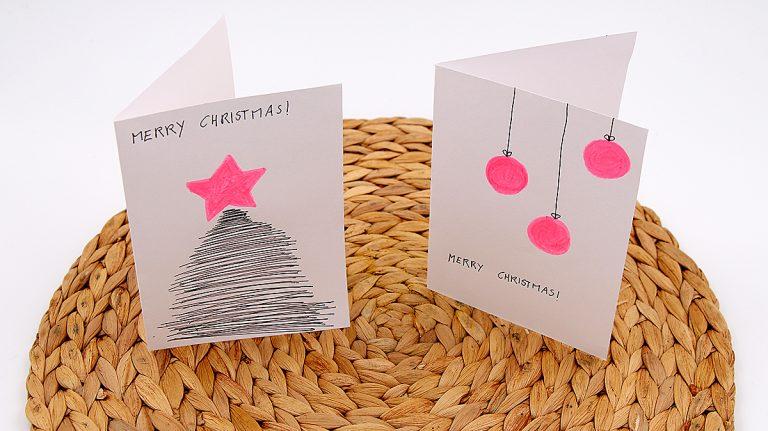 Selbst gemachte Karten Weihnachten