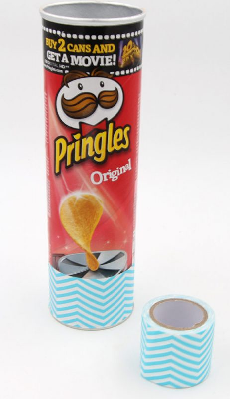 Pringles Dose als DIY Vase