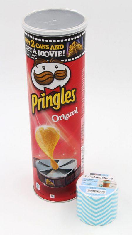 Pringles Dose als Vase