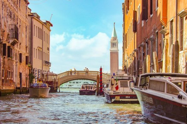 Venedig Kanal Brücke