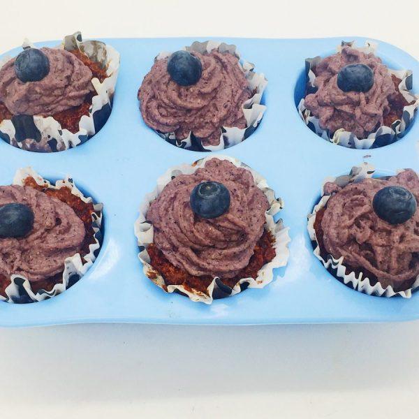Vegane Blaubeer Cupcakes Silikonform