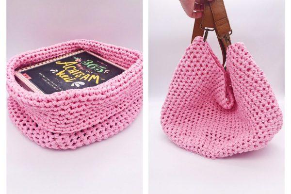 Korb und Tasche häkeln einfache anleitung