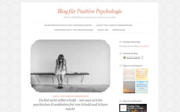 Screenshot positive psychologie blog persönlichkeitsentwicklung