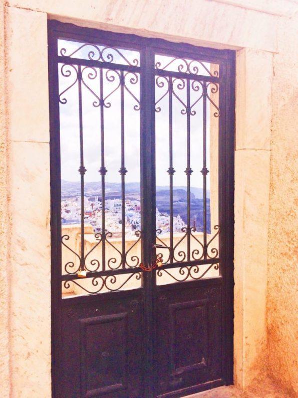 Fenster Bild Oia Santorin
