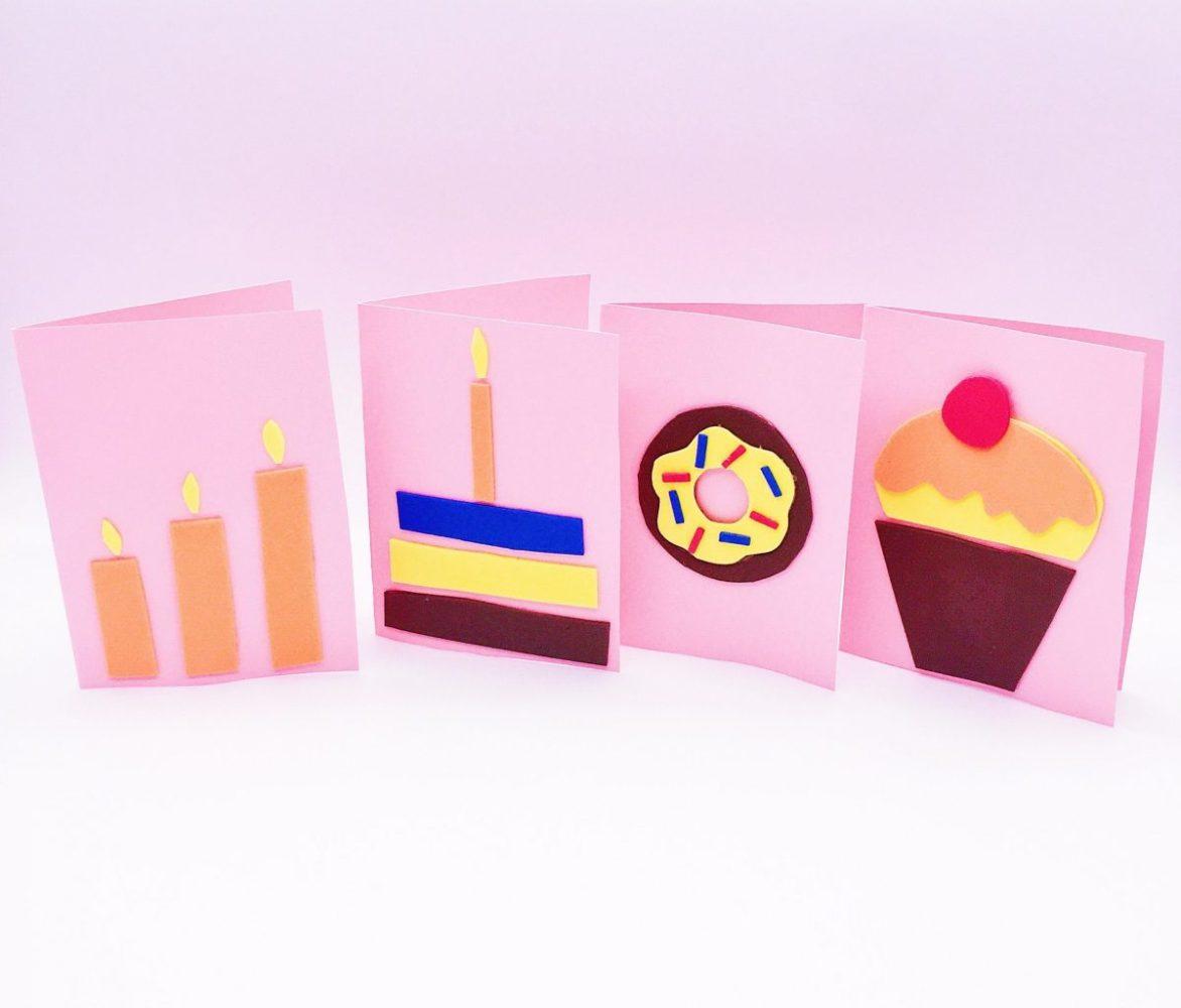 Geburtstagskarten mit Moosgummi selber machen