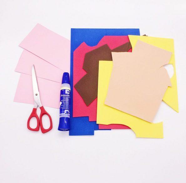 Geburtstagskarten selber basteln mit Moosgummi Material
