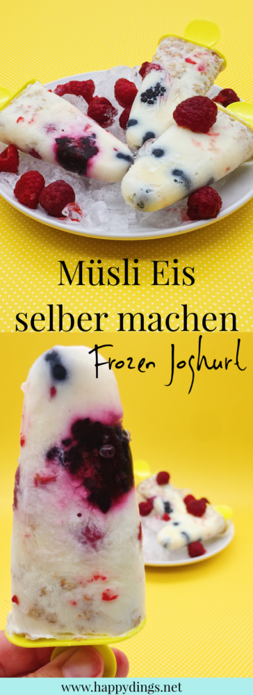 frozen joghurt eis selber machen leckere eis rezepte ohne zucker happy dings diy blog und. Black Bedroom Furniture Sets. Home Design Ideas