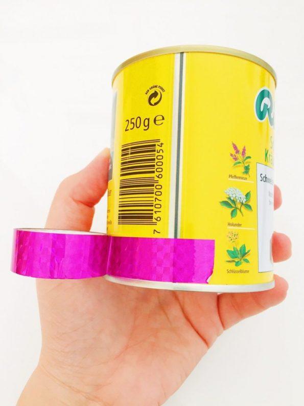 Upcycling Idee: Stiftehalter aus Bonbon Dose selber machen