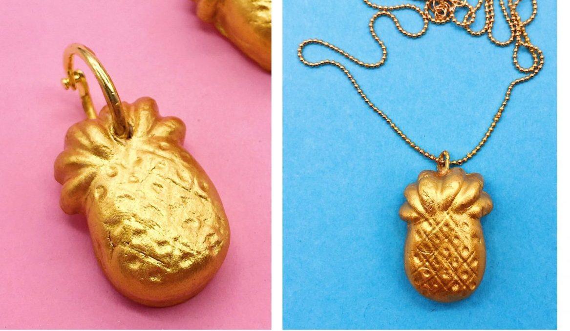 Ananas Schmuck selber machen schönes DIY Geschenk