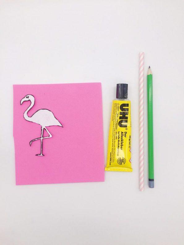 DIY Ideen: Flamingo Strohhalme aus Moosgummi selber basteln das Material