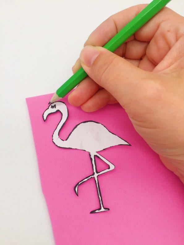 DIY Ideen: Flamingo Strohhalme aus Moosgummi selber machen
