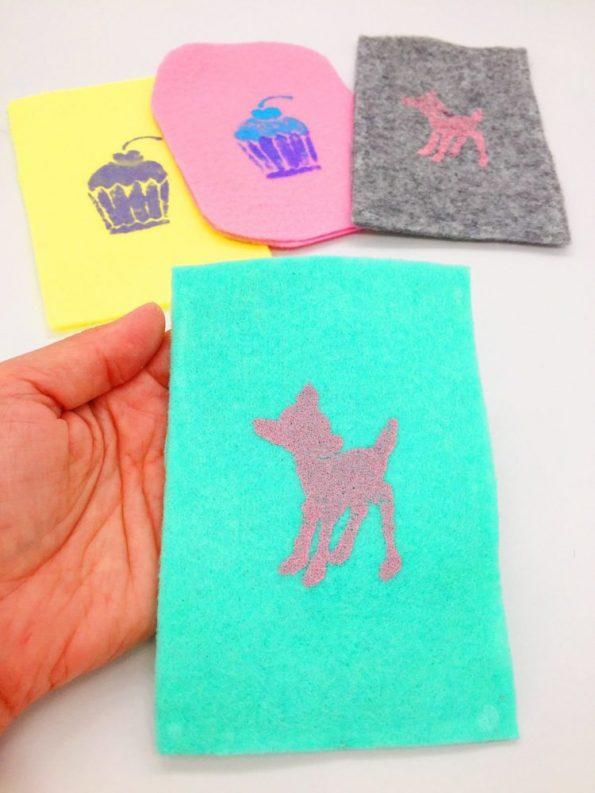 Handytaschen selber machen aus Filz einfache Basteltipps