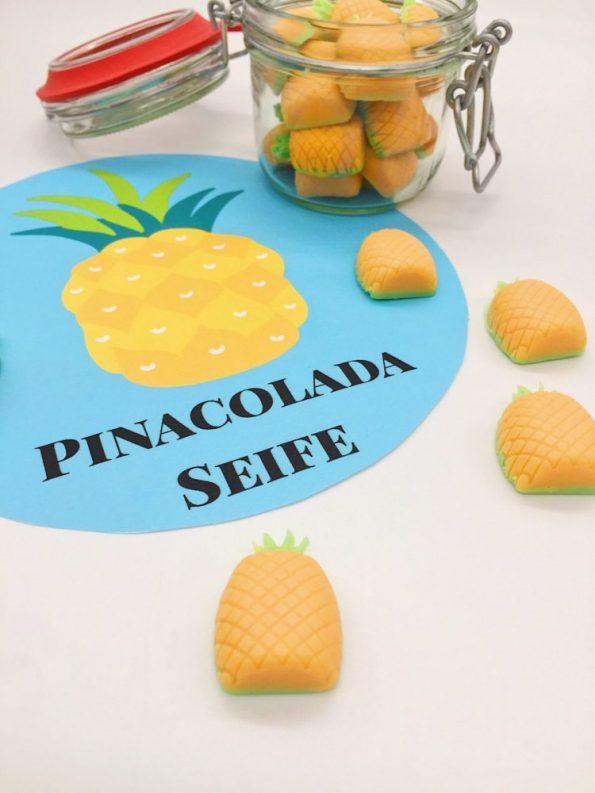 Pinacolada Ananas Seife selber machen - schöne DIY Geschenke für Mama oder Freundin