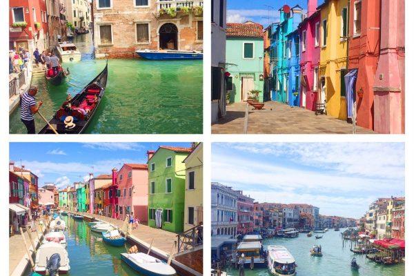 Sehenswürdigkeiten in Venedig und Burano in Italien