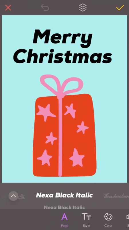 Einfach und schnell: Weihnachtskarten selbst gestalten: Schrift auswählen