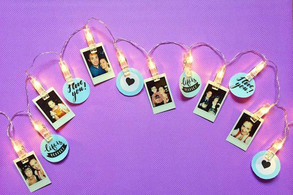 Lichterkette basteln schönes DIY Geschenk