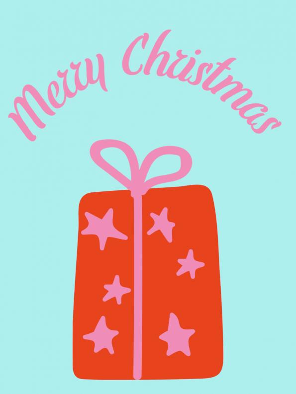 Schöne Motive für Weihnachtskarten selber basteln: Geschenk