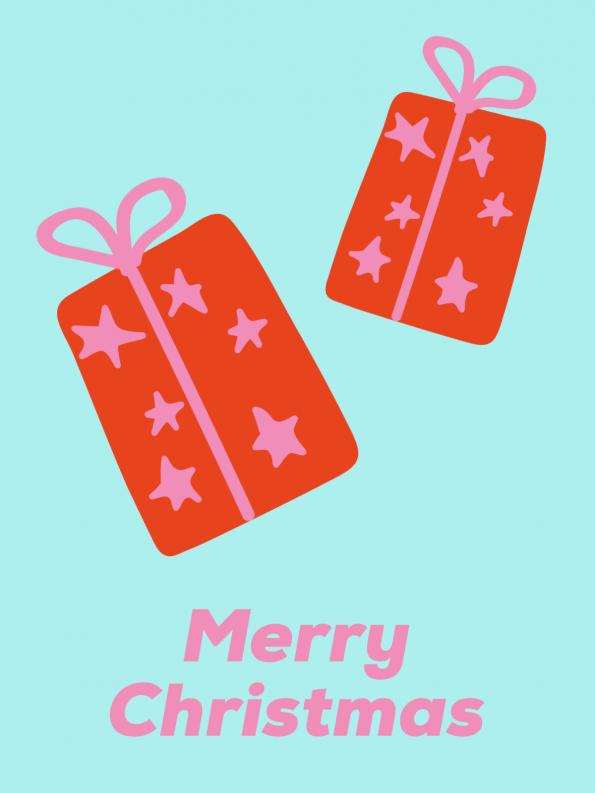 Schöne Motive für Weihnachtskarten selber machen: Geschenke