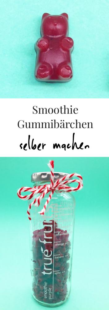 Vegane Gummibärchen selber machen - aus einem Smoothie