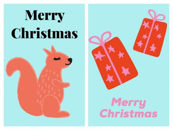 Weihnachtskarten einfach selber machen mit Over Handy App