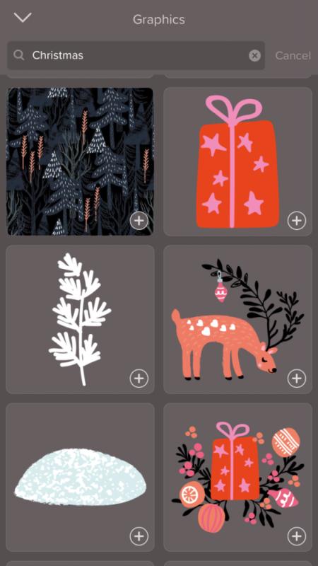 Weihnachtskarten selber machen mit Handy App: Motiv auswählen
