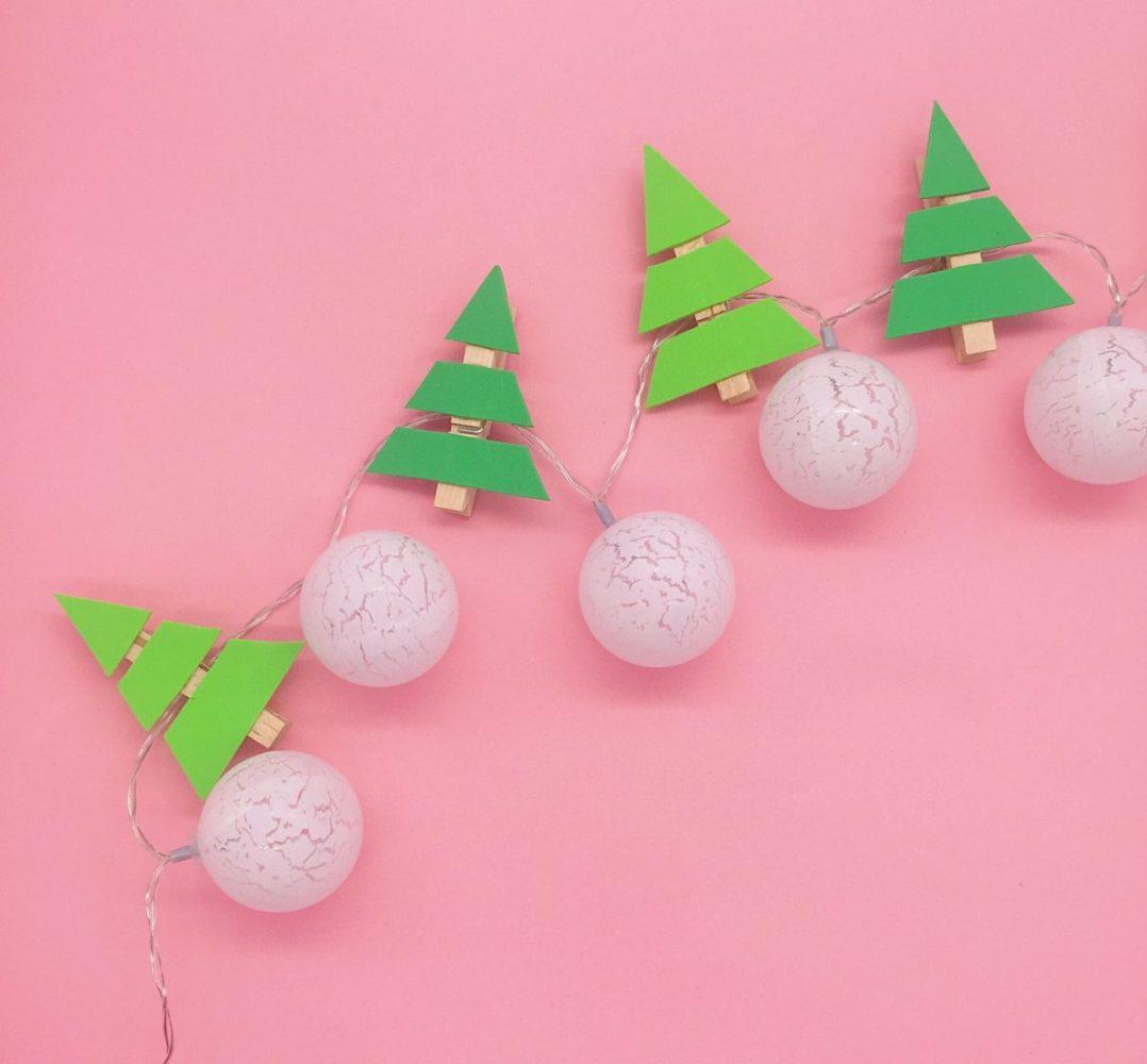 Suche Schöne Weihnachtsdeko.Tannenbaum Lichterkette Selber Machen Mit Video