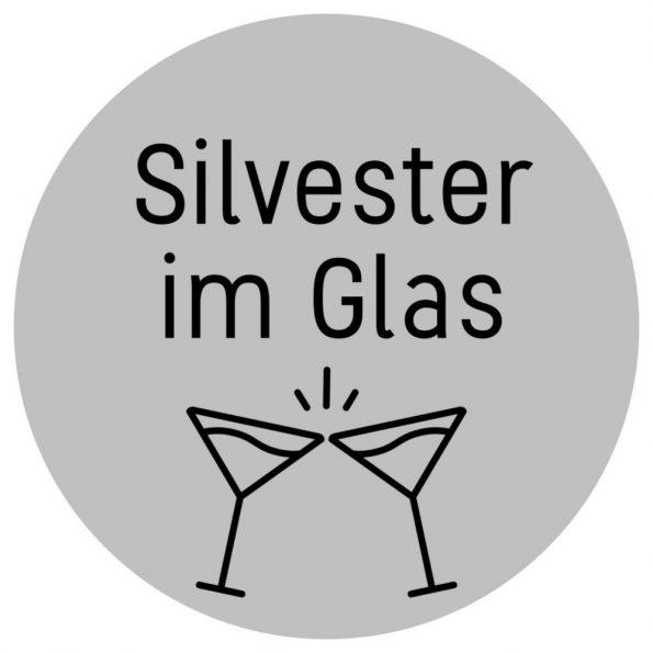 Free Printable - kostenloses Etikett zum Ausdrucken für die Silvester Party in silber