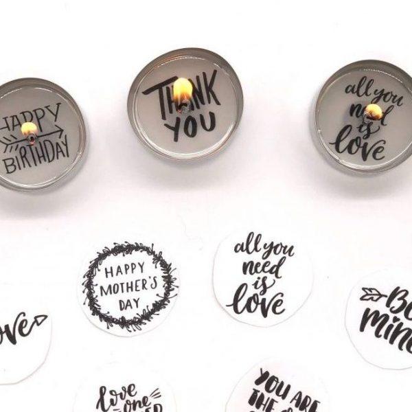 Glücksbotschaften für teelichter selber machen - süße DIY Geschenkideen