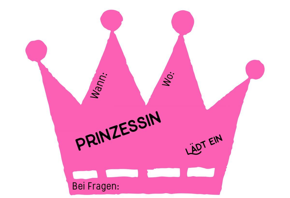 Kindergeburtstag Einladungskarten Basteln: Für Mädchen Mit Prinzessinnen  Motto