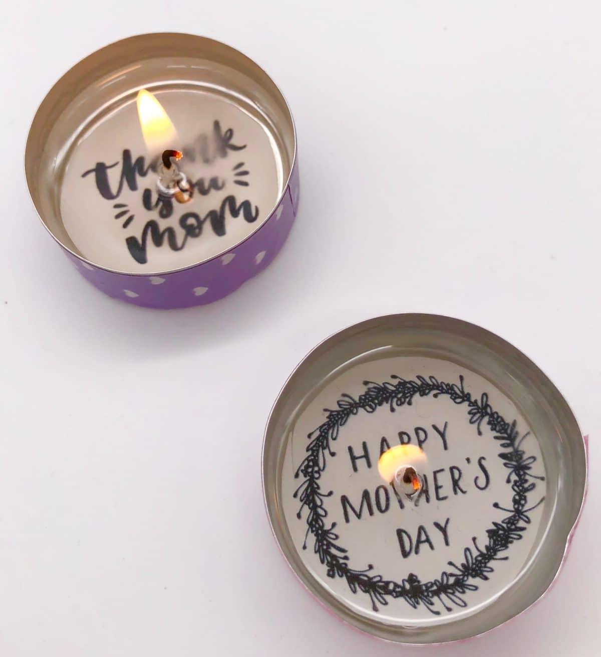 Teelicht Mit Botschaft Selber Machen Kreative Kleine