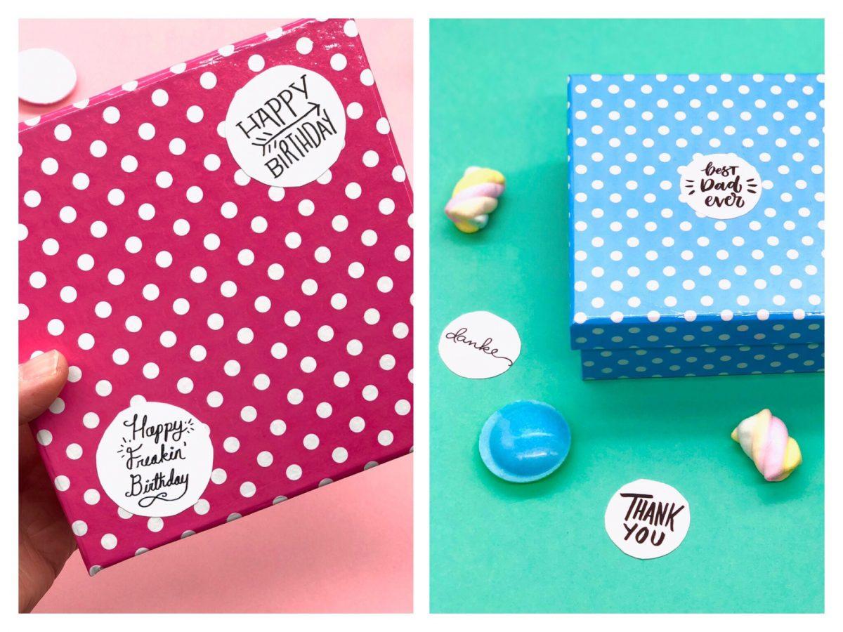 Aufkleber selbst gestalten süße DIY Geschenke für jeden Anlass