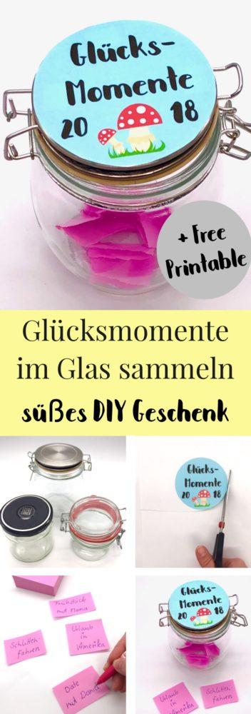 DIY Geschenke im Glas: Glücksmomente sammeln