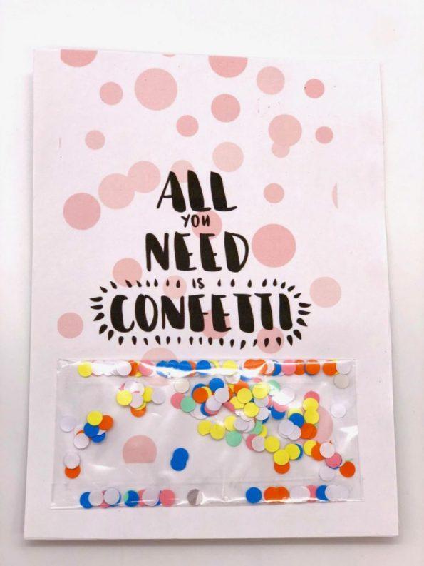 DIY Geschenke Karten zum Geburtstag selbst gestalten mit Konfetti Version 2