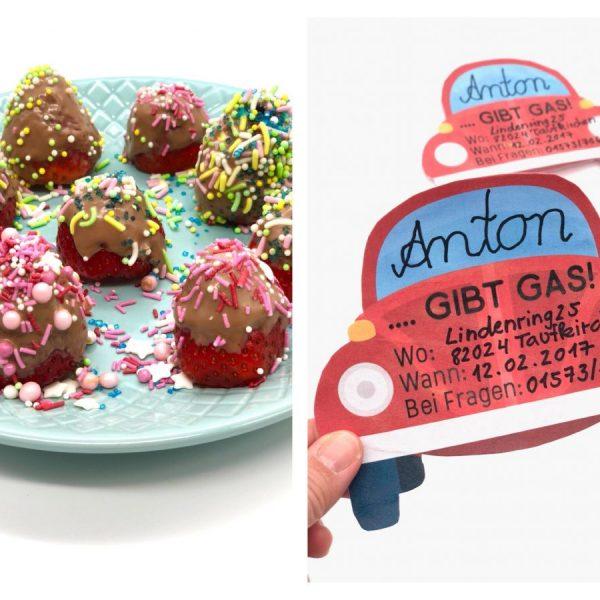Kindergeburtstag Ideen für Snacks, Einladungen und Tüten in Kooperation mit Ferrero kinder Schokolade