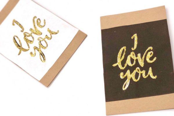 Valentinstag Karten selber machen
