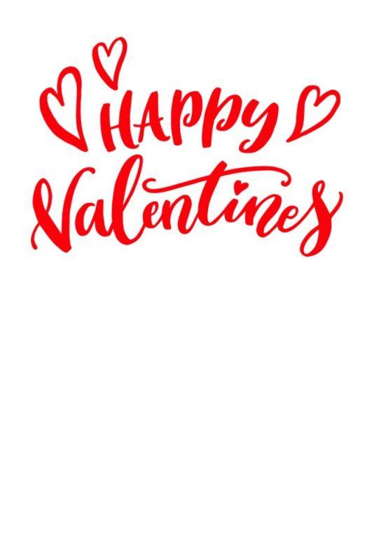 Vorlage für Valentinstag Karte Happy Valentines