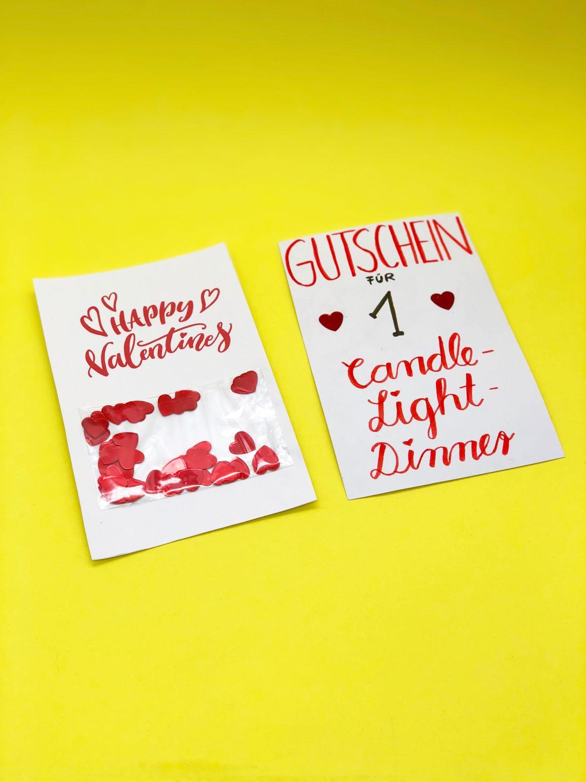 Karten selbst gestalten valentinstag karte selber machen - Gutschein selbst gestalten ideen ...