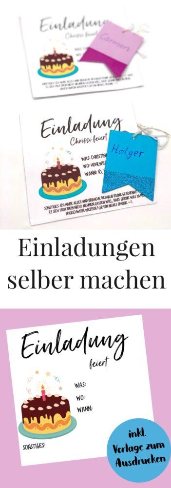 Einladungskarten selbst gestalten einfache Anleitung