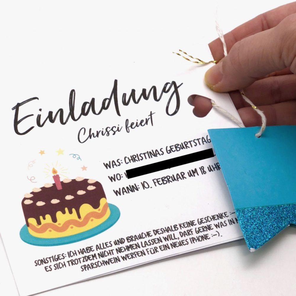 einladungskarten selbst gestalten - einfache diy ideen zum