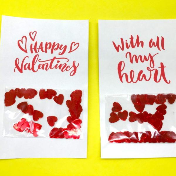 Gutschein Karten mit Konfetti selber machen – das ideale Geschenk zum Valentinstag