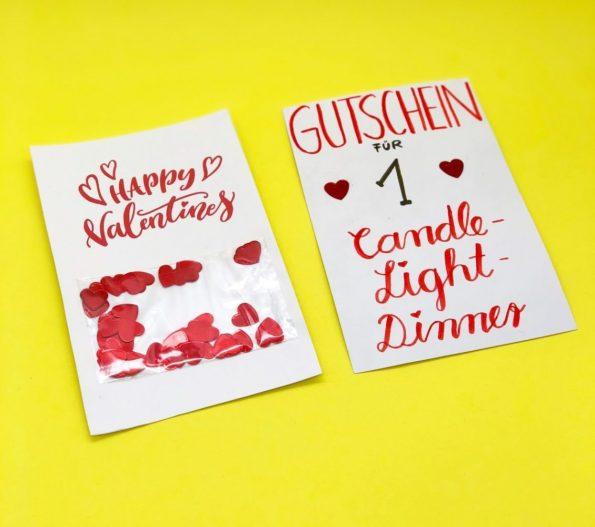Gutschein Karten selber machen - das ideale Geschenk zum Valentinstag
