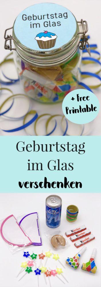 Ideen für DIY Geschenke Geburtstag im Glas verschenken