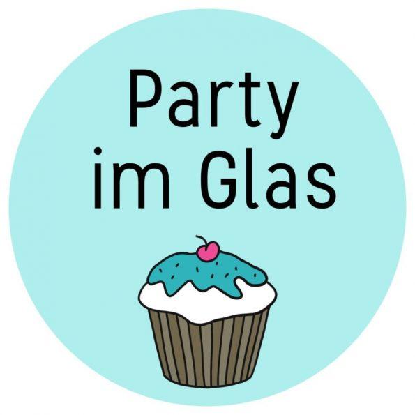 Ideen für Party Mitbringsel: kostenloses Etikett für die Party im Glas