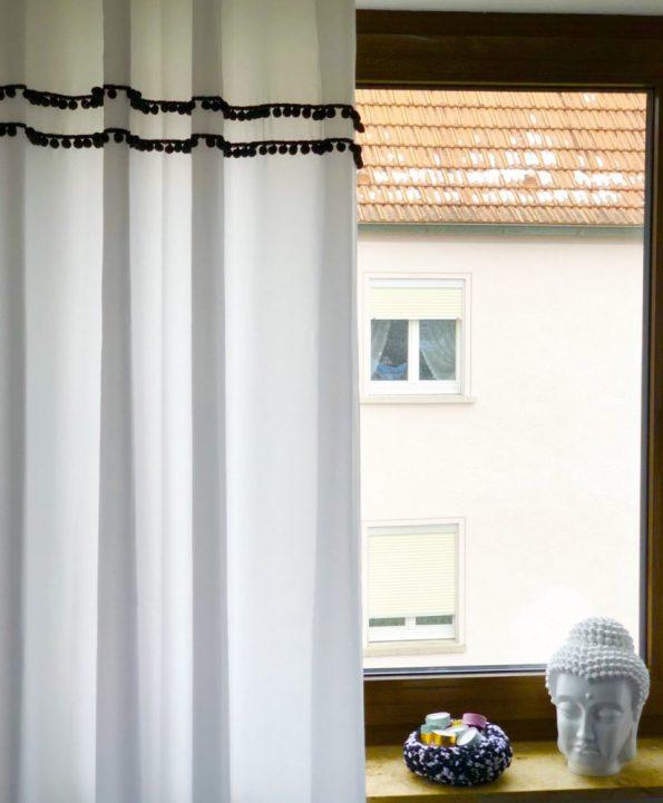 OTTO Gardine Kaveri und selbst gehäkelte Körbe schöne Deko für zuhause