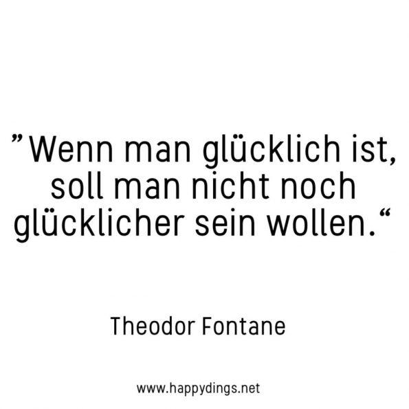 Schöne Sprüche, Zitate und Lebensweisheiten zum Nachdenken Theodor Fontane